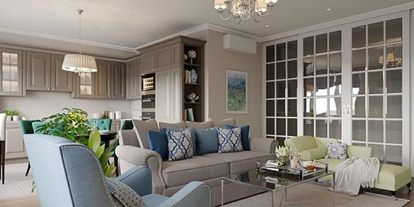 Дизайн проект квартиры Наследие