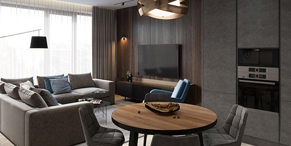 Дизайн проект квартиры ЖК Хедлайнер
